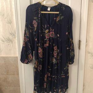 Old Navy navy floral boho dress size m